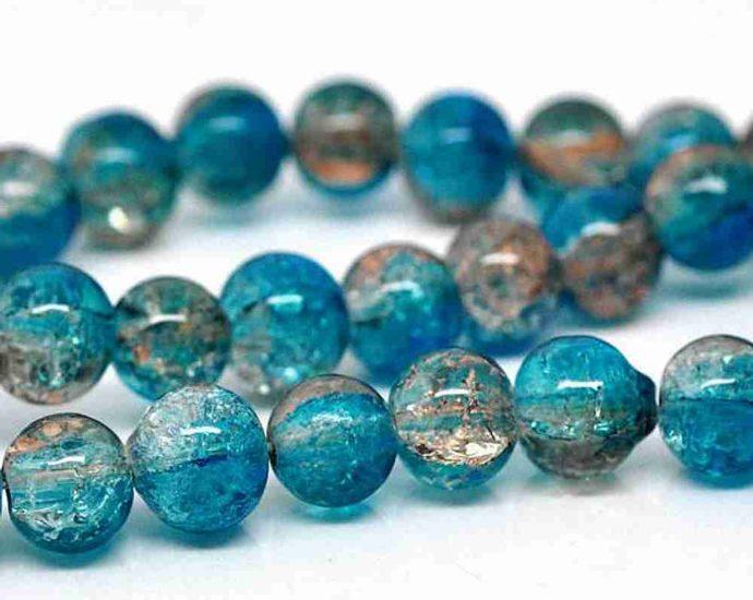 Perles en verre craquelé