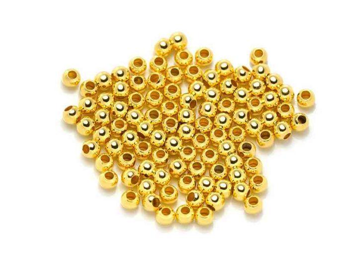 Perles à écraser rondes 2.5mm doré