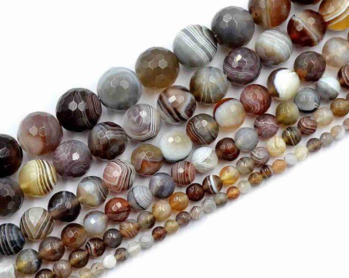 Perles en pierre fine