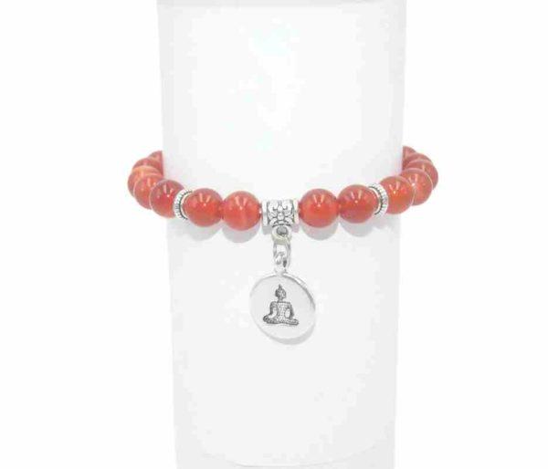 Bracelet Agate rouge Perles 8mm