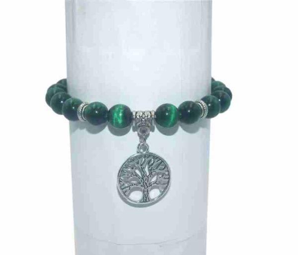 Bracelet Malachite Perles 8mm