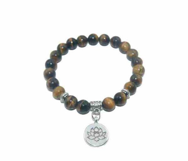 Bracelet Oeil de tigre Perles 8mm