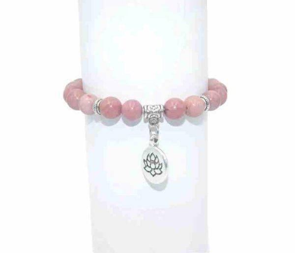 Bracelet Rhodonite Perles 8mm
