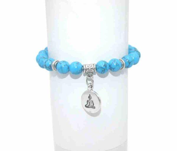 Bracelet Turquoise Perles 8mm