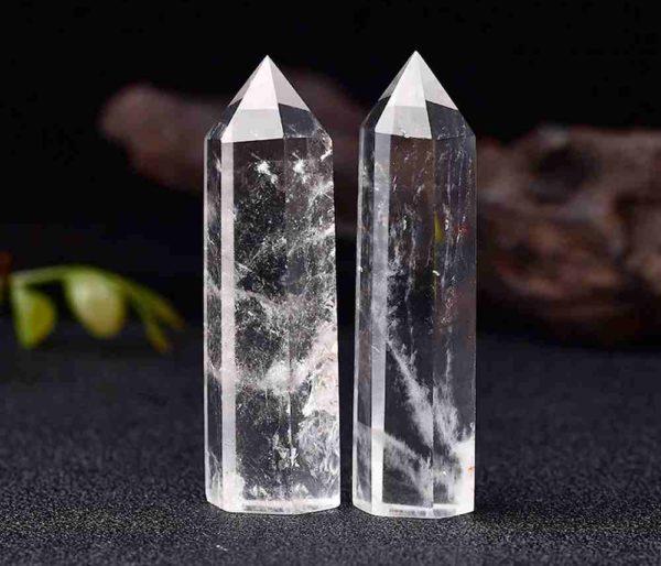 Pointe Cristal de roche 6cm