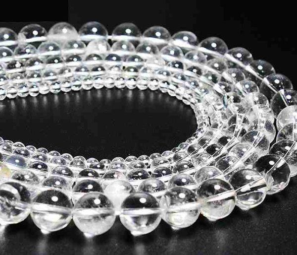 Perles rondes en cristal de roche 8mm