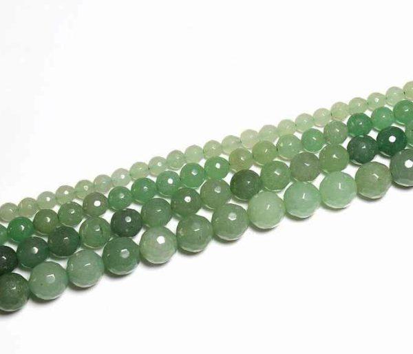 Perles à facettes en aventurine 6mm