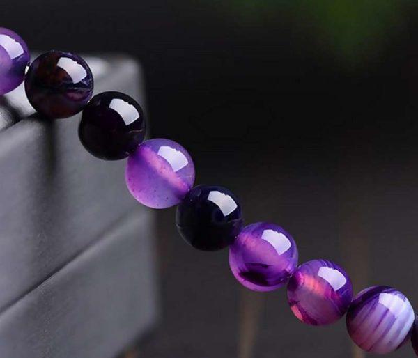 Perles rondes en agate violette 8mm