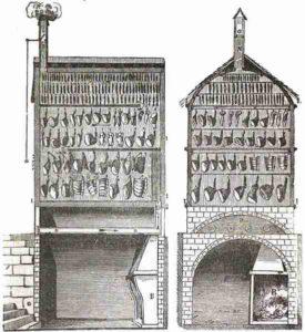 Chambre de boucanage au 19e siècle
